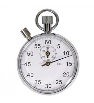 Chrome Stopwatch & Holder