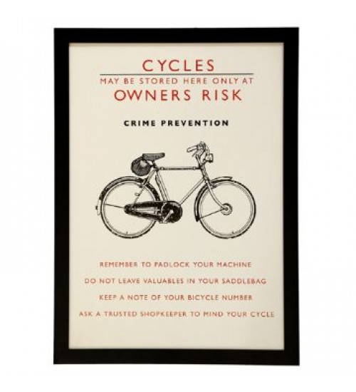 WALL ART BICYCLE SAFETY